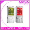 Refurbished Original Nokia N79 3G network 5MP camera WIFI GPS cell phones One Year Warranty Free shipping