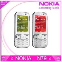 Восстановленное в исходном Nokia N79 3 г сети 5-мп камерой WIFI GPS сотовых телефонов гарантия сроком на один год бесплатная доставка