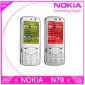 Restaurado Original Nokia N79 3 G red cámara de 5MP WIFI GPS los teléfonos celulares un año de garantía envío gratis