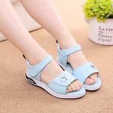 COZULMA Girls Sandals New Kids Summer Shoes for Pincess Dress Children Beach Soft Bottom