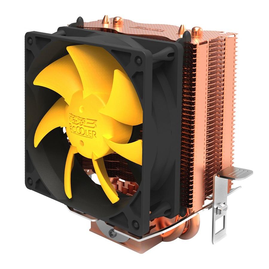 Pccooler s83 cpu cooler aletas de chapeamento de cobre 2 heatpipes 80mm/8cm ventilador silencioso cpu ventilador de refrigeração do radiador para amd intel 775 1155 11