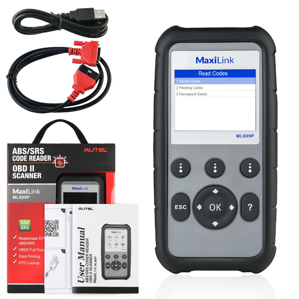 Image 5 - Autel MaxiLink ML609P Auto Diagnostic Tool Car Scanner Code Reader OBD2 Code Scan Tool View Freeze Frame Data Diagnostic tool-in Engine Analyzer from Automobiles & Motorcycles