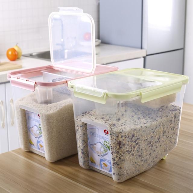 Vorratsbehälter 10kg kunststoff korn reis siegelkasten getreide bohnen