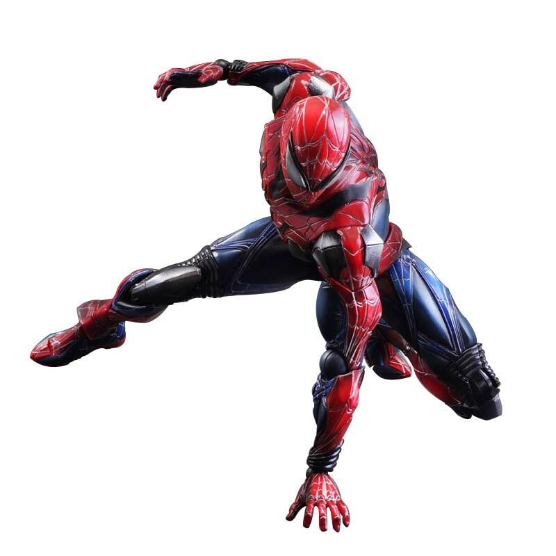 цена на Playarts Kai PA Marvel Legends Action Figure Pizza Spiderman Model Toys for Gift