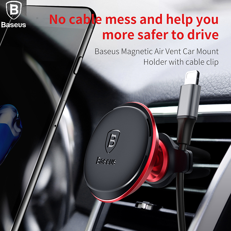 Baseus Magnetic Car Phone Holder Air Vent Mount Mobile Smartphone Stand Magnet Support Cell Cellphone Telephone Holder In Car