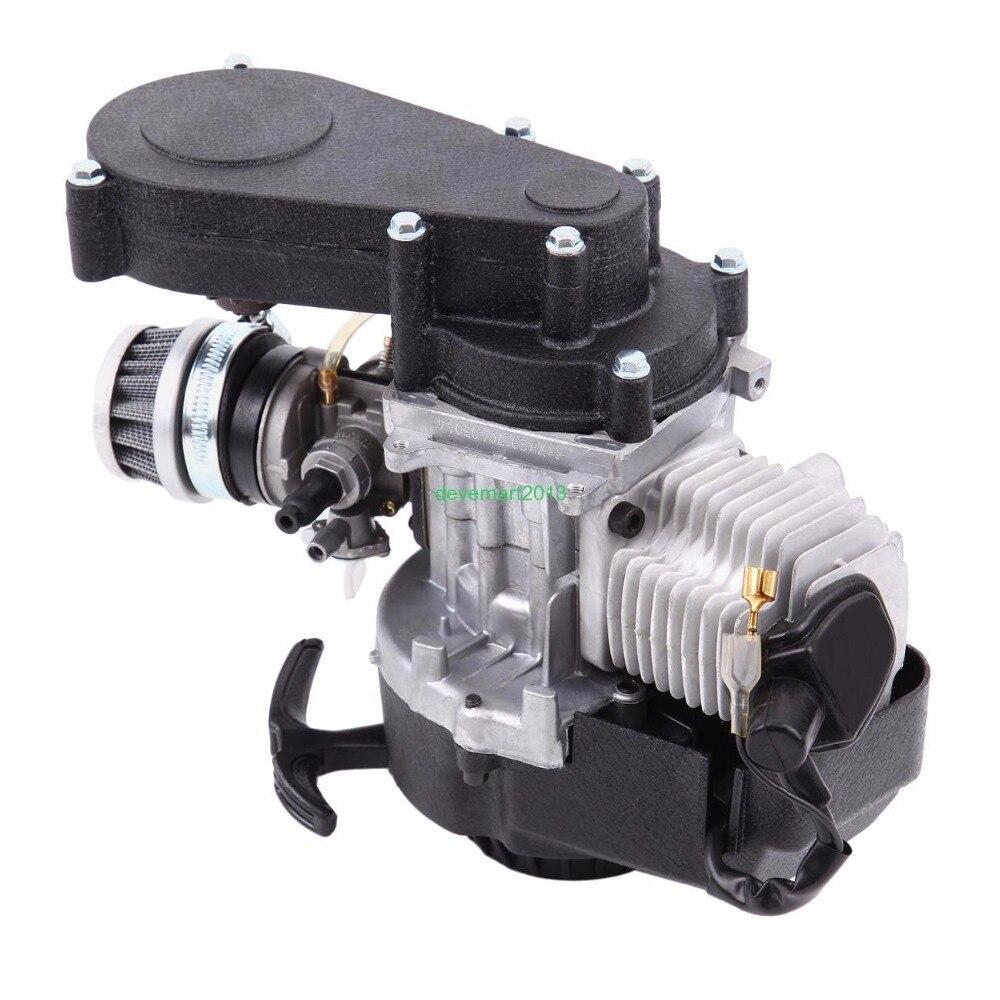 Mini Motor Dirtbike 49cc 2-hub Racing Motor Quads Kreuz PocketBike Kart Atv Getriebe Vergaser