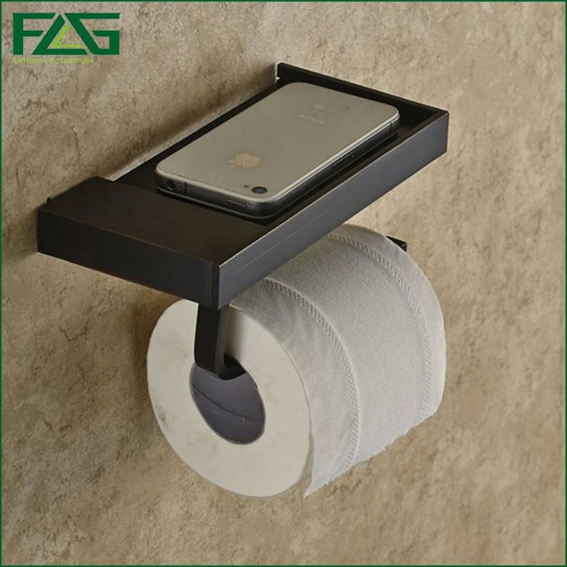 FLG Oil Rubbed Bathroom Paper Phone Holder With Shelf Bathroom Mobile Phones  Towel Rack Toilet Paper. Aliexpress com   Buy FLG Oil Rubbed Bathroom Paper Phone Holder