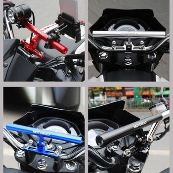 Nowy MOTOWOLF motocykl modyfikujący przedłużenie poprzeczka ze stopu aluminium rozszerzony suport wielofunkcyjny regulowany pręt rozprężny tanie i dobre opinie