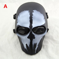 Ghost Camouflage Wargame Scary CS Paintball Mask Outdoor Army Full Face Airsoft Tactical Skull Masks 19 color Available