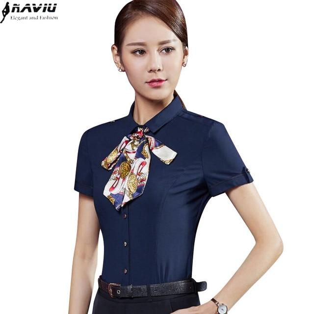 Navy Blue Chiffon Shirt