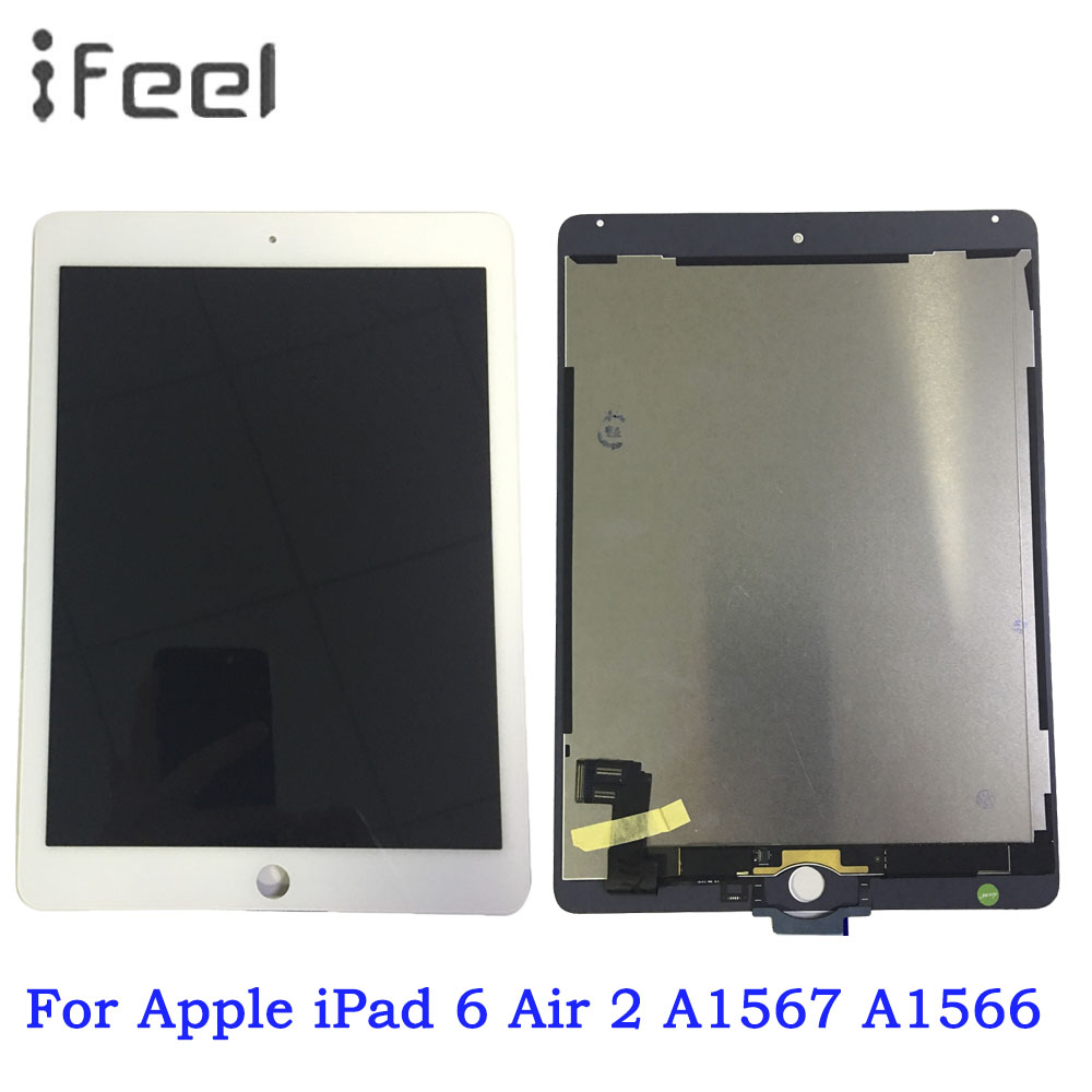LCD For Apple iPad 6 Air 2 A1567 A1566 LCD Display Touch Screen Digitizer Assembly ReplacementLCD For Apple iPad 6 Air 2 A1567 A1566 LCD Display Touch Screen Digitizer Assembly Replacement