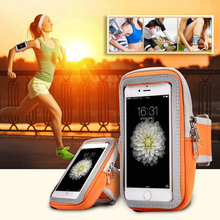 купить Running Zipper Sport Arm Case For iPhone X XR XS 7/8 Plus Sport Case Arm Band Leather Phone Cover Jogging Running Bag Wrist Belt дешево
