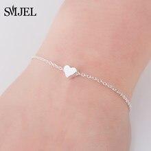 SMJEL Beste Vriend Nieuwe Jaar Geschenk Tiny Heart Bangles Armbanden voor vrouwen Liefde Hart Sieraden Verjaardag armband femme bileklik B042