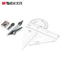 Góc cai trị và cung la bàn và thước đo góc bộ m&g acs90808 tiêu chuẩn văn phòng phẩm bán buôn 12 bộ/lot miễn phí vận chuyển