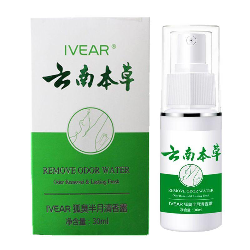 30ml Odor Remover Spray Armpit Underarm Smell Removal Refresh Body Deodorant Lotion Liquid Summer Sweat Women Men Supplies