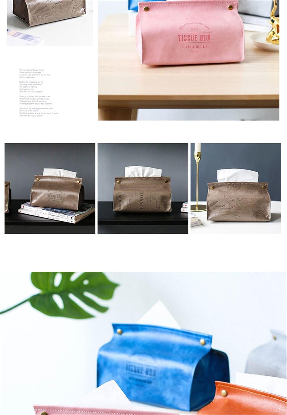 Креативная коробка для салфеток из искусственной кожи, мягкая складная подставка для салфеток, чехол для салфеток с буквенным принтом, держатель для бумаги для дома, кухни, коробка для хранения