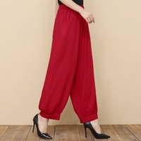 Hot Sale 2017 Fashion Mid Old Women Long Pants Harem Youga Modal Dancing Trouses Wide Belly