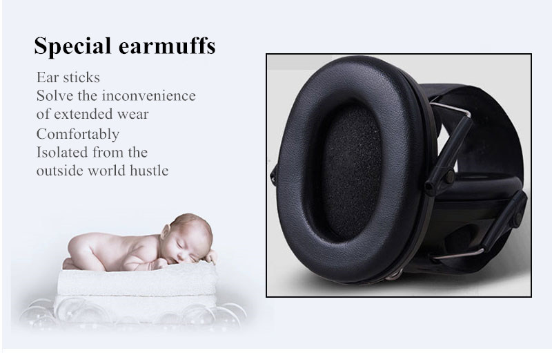 Anti-noise Sport hunting Electronic Earmuff Shooting Ear Protection Tactical Hearing Protector Earmuffs headphone free shipping