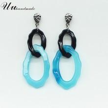 Brand Real Trendy Long Earrings Jewelry Drop For Women Love Earings Fashion Brincos Pendientes Mujer Moda