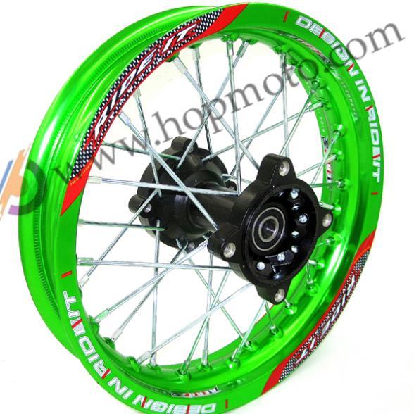 Green Rims 1 85x12 Inch For Dirt Bike Pit Bike Ktm Crf Kayo Bse