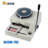 WSDM 70C Manual Code Printer PVC Card Embossing Machine Letterpress Rotogravure Printing Machine Name Card Code