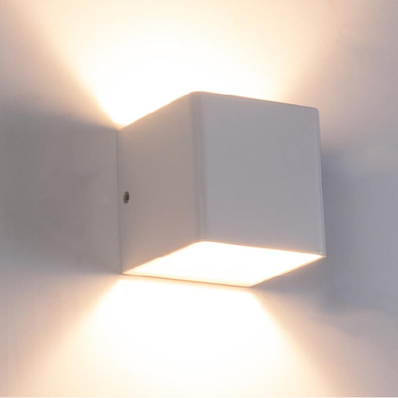 Led Lamps Modern Simple Factory Direct Selling Round Square 300 Angle Turning Led Living Room Aisle Stairs Reading Kids Room Wall Lights