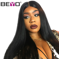 13X4 Brazilian Wig Pre Plucked Lace Front Human Hair Wigs Straight Human Hair Wigs For Black Women Natural Color Beyo Remy Hair