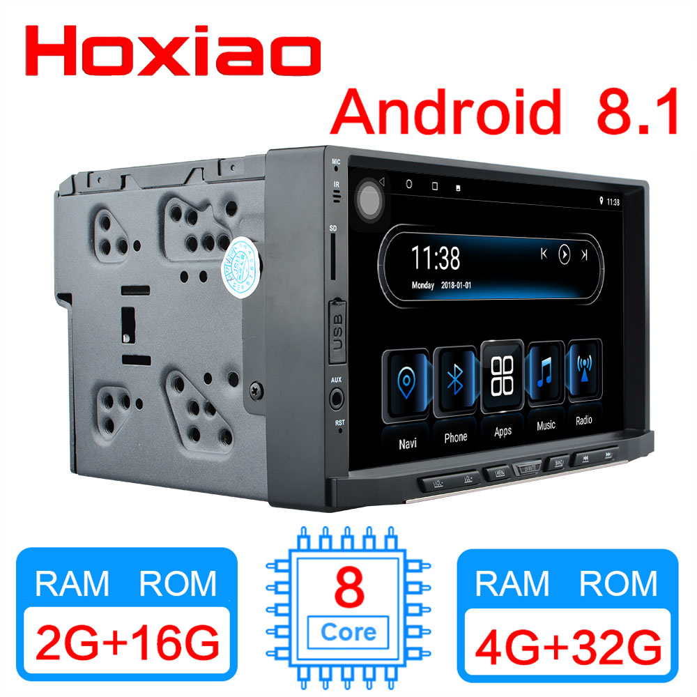 Android 8 1 car multimedia player IPS display built in navigation WIFI BT 8 core RAM4G