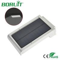 Boruit 49 ledソーラーライト壁ランプモーションセンサーソーラーパネル防水屋外ガーデン庭壁ライト緊
