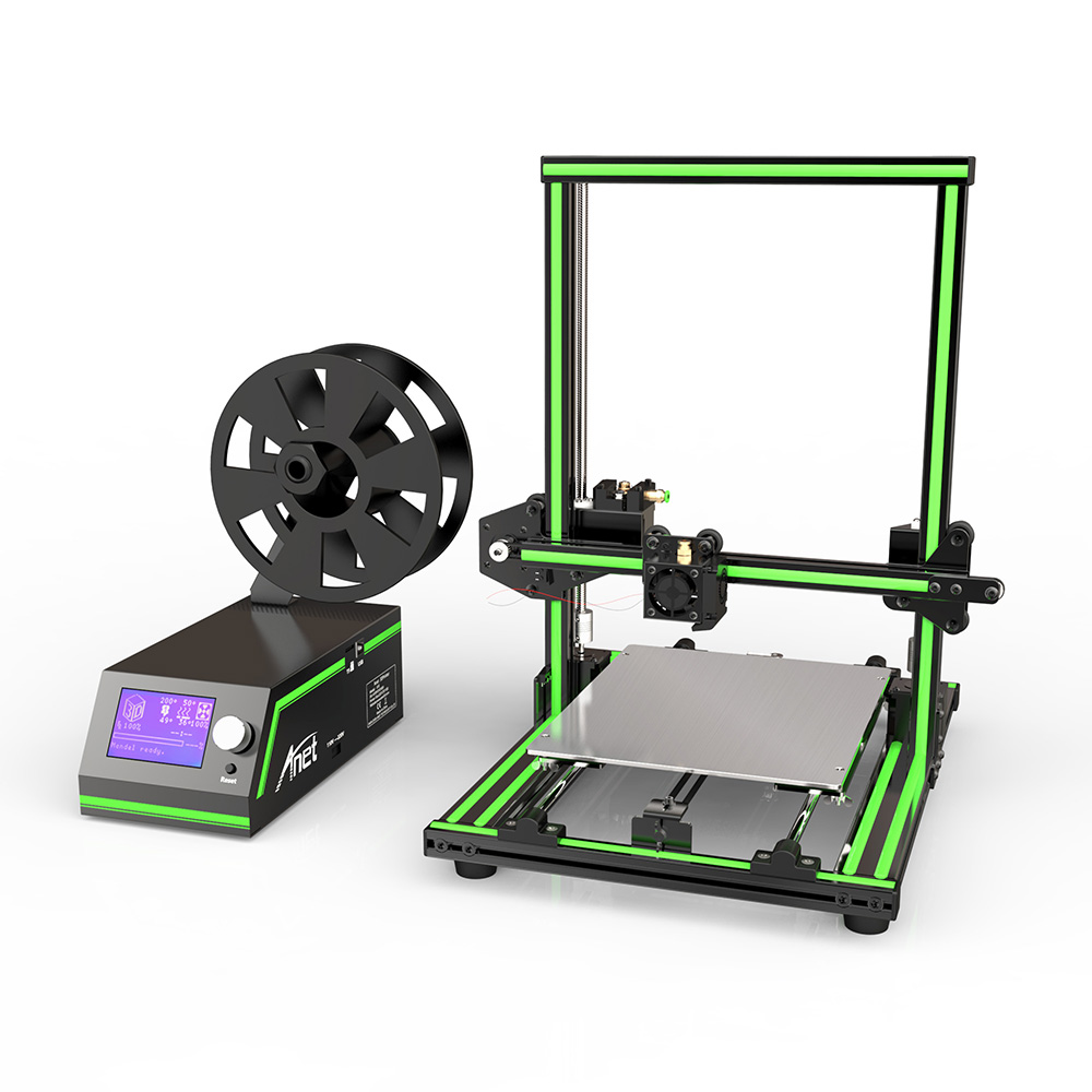 Easy Semi Assemble Anet E10 3d printer Reprap Prusa i3 Aluminum Frame DIY 220*270*300mm Large Print Size with Filament SD Card anet a6 3d printer prusa i3 reprap easy assemble 3d printer filament kit diy sd card high quality cd screen moscow warehouse