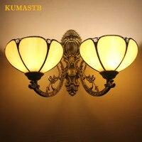 Euopean две головки Настенные светильники для ванной комнаты Гостиная Кабинет настенный светильник зеркало для спальни передняя лампа Искусс