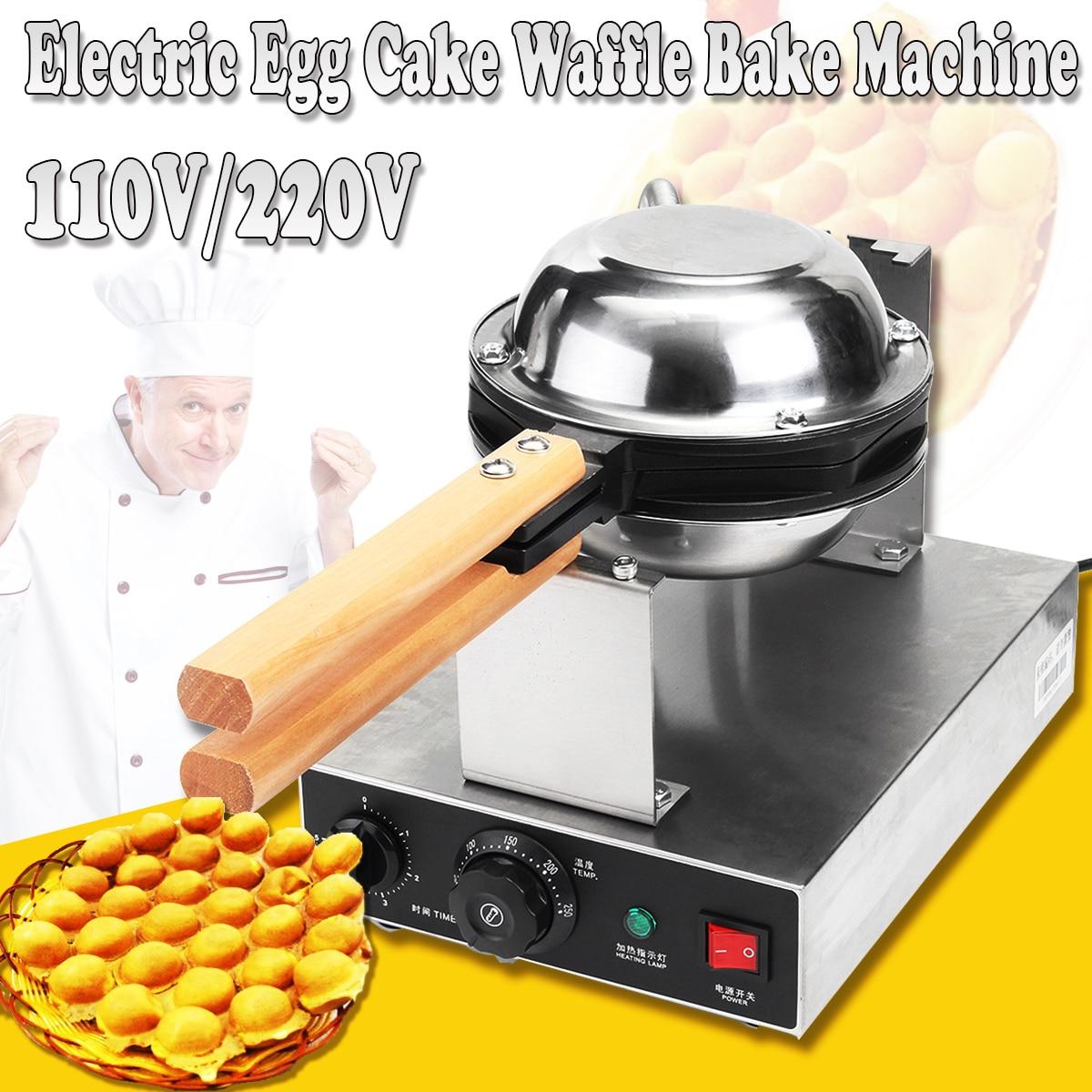 110V/220V Stainless Steel Electric Egg Cake Oven Puff Bread Waffle Bake Machine цена