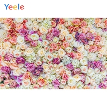 Yeele Wedding Photography Backdrop Colorful Flowers Photocall Background Vinyl Custom Children Kids Baby For Photo Studio