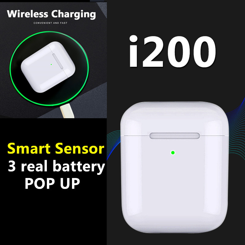 i200 tws Aire 2 bluetooth earphone PK W1 H1 Sensor Tap control Earbuds Wirless charging PK i10 i10tws  i12 i30 i60 i80 i100 TWS(China)