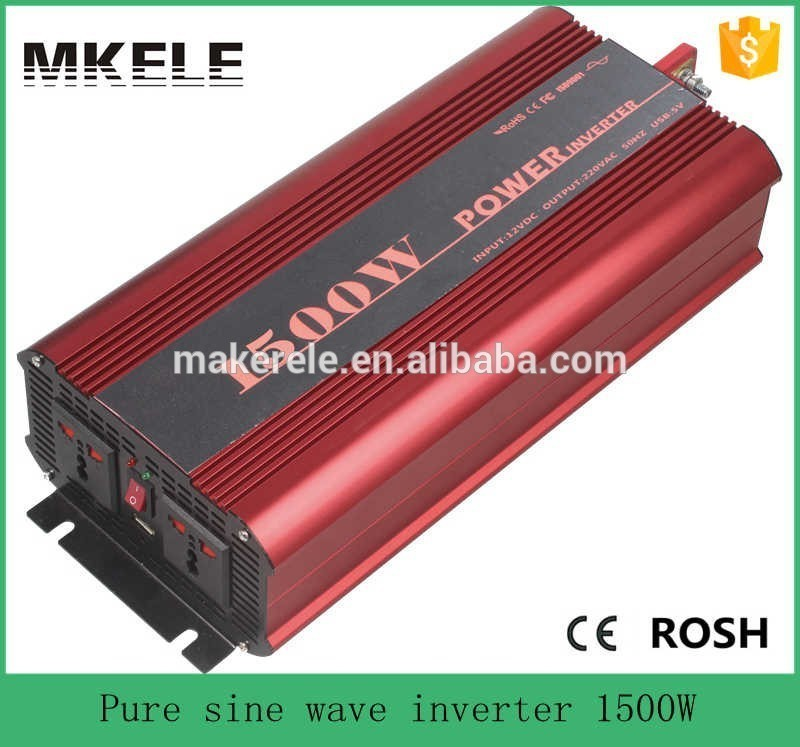 купить MKP1500-121R off grid pure sine wave 1500 w inverter,12v to 120v power inverter,12vdc inverter,power inverter suppliers по цене 9463.89 рублей