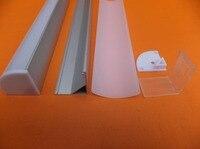 Kostenloser Versand 2 mt/teile 100 m/lot Neues Design abgehängte led aluminium profile kanal mit Milch Abdeckung für leds streifen mit abdeckung|led aluminium profile|design profilealuminium profile free shipping -