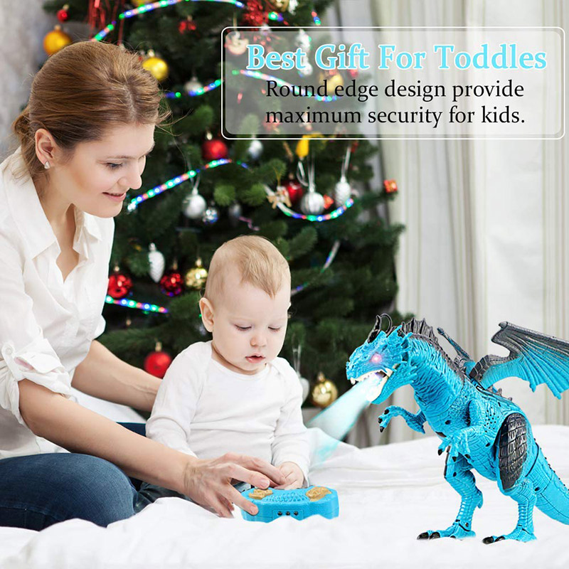Hot Selling Remote Control RC Dragon Walking Dinosaur Toy with Light Sound Kids Toy Gifts