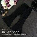 2016 de Corea Del Sur ropa para niños otoño nueva super girls knit pantalones de campana dividida estilo occidental versión de super envío libre