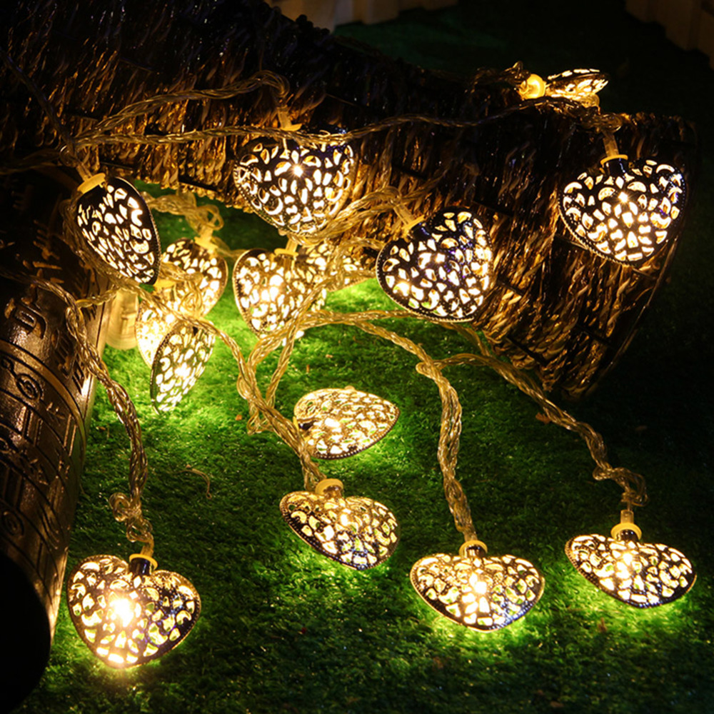 shapes led fairy lights outdoor garden tree christmas luces decorative