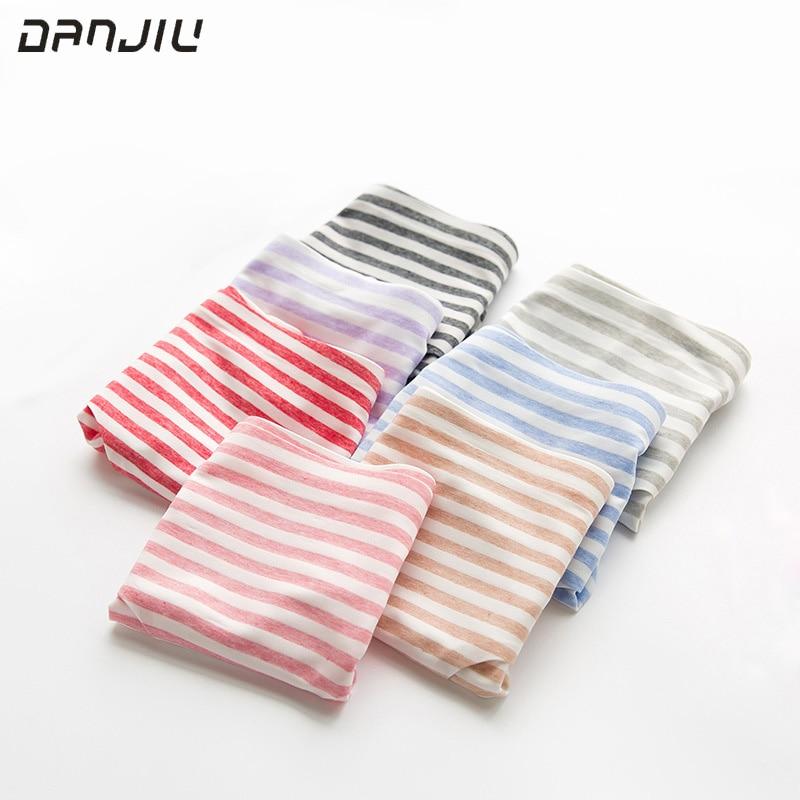 DANJIU brand hot sale briefs for Women sexy cotton underpants stripe Underwear woman calcinha Lingerie women's seamless   panties