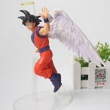 Japanese Anime Dragon Ball Z Figurine Angel Son Goku Figures Say Goodbye PVC Model Toys 16cm the last time we say goodbye