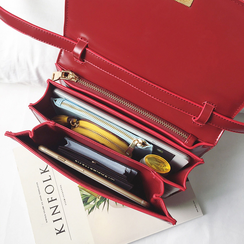 Классическая женская сумка на плечо в форме коробки, фирменный дизайн, сумки через плечо из искусственной кожи для женщин, клатч, модная маленькая сумка мессенджер - 5
