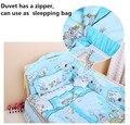 Promotion! 10PCS crib mattress quilt around bedding kits bumper cotton baby bedding kit bed around(bumpers+matress+pillow+duvet)