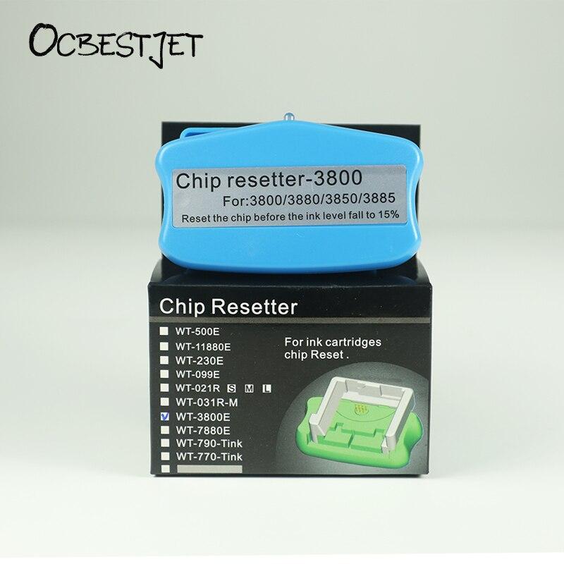 OCBESTJET Cartridge Chip Resetter For Epson 3800 3800C 3850 3880 3890 3885 Printers Cartridge Chip Resetter