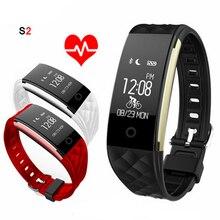 S2 Смарт Группы Браслетов Браслет Монитор Сердечного ритма Шагомер IP67 Водонепроницаемый Smartband Браслет Для Android IOS Телефон