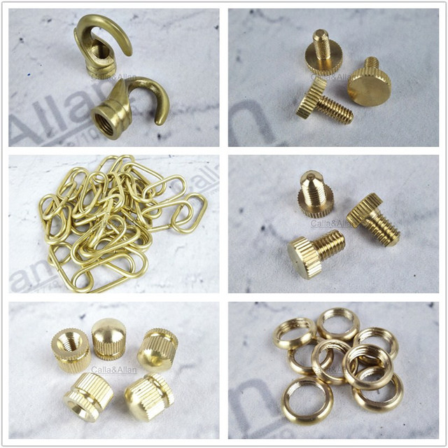 Brass material lamp parts base accessories hooks screws round brass material lamp parts base accessories hooks screws round threaded nuts copper chain ring for lighting aloadofball Choice Image