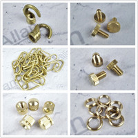 Brass material lamp parts base accessories hooks screws round threaded nuts copper chain ring for lighting base ceiling mount