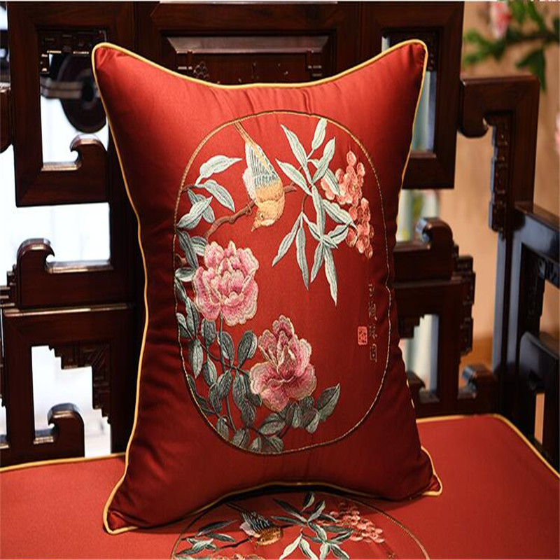 free shipping classical chinese character throw <font><b>Pillow</b></font> with inner <font><b>50x50cm</b></font> <font><b>Pillow</b></font> embroidery sain cushion <font><b>pillow</b></font> chair <font><b>decorative</b></font> image