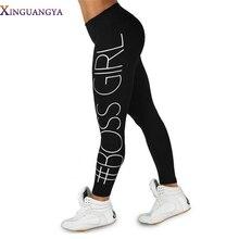 XINGUANGYA Women'S Pants 2017 Fashion Print Boss Girl Printed High Waist Pencil Pants Fitness Leggings Casual Trousers For Women