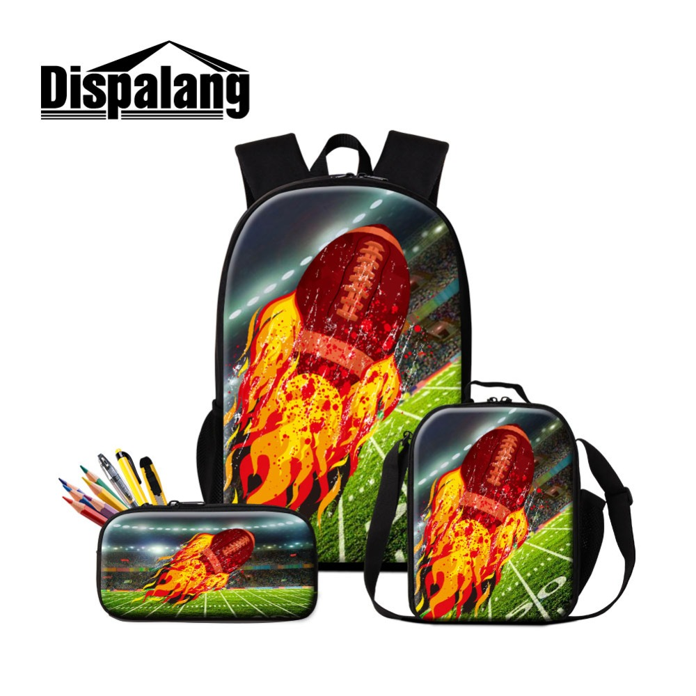 Dispalang Lunch Sack Children School Backpack for Teenagers Brand Sportl Set Trendy Boys Rugbyl Daily Pack with Pencil Case BoxDispalang Lunch Sack Children School Backpack for Teenagers Brand Sportl Set Trendy Boys Rugbyl Daily Pack with Pencil Case Box